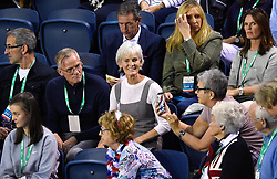 Judy Murray in the crowd during day two of the Davis Cup match at Emirates Arena, Glasgow.