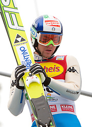10.12.2011, Ramsau am Dachstein, AUT, FIS Nordische Kombination, Ski Sprung, im Bild Alessandro Pittin (ITA) // Alessandro Pittin of Italy during Ski jumping at FIS Nordic Combined World Cup in Ramsau, Austria on 2011/12/10. EXPA Pictures © 2011, PhotoCredit: EXPA/ Johann Groder