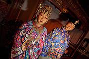Images of Singapore. Traditional Straits Chinese (Nonya) life. Wedding couple.