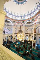 09 JAN 2015, BERLIN/GERMANY:<br /> Freitagsgebet in der Sehitlik Moschee<br /> IMAGE: 20150109-01-022<br /> KEYWORDS: türkisch, Islam, Moslem, moslemisch, Religion