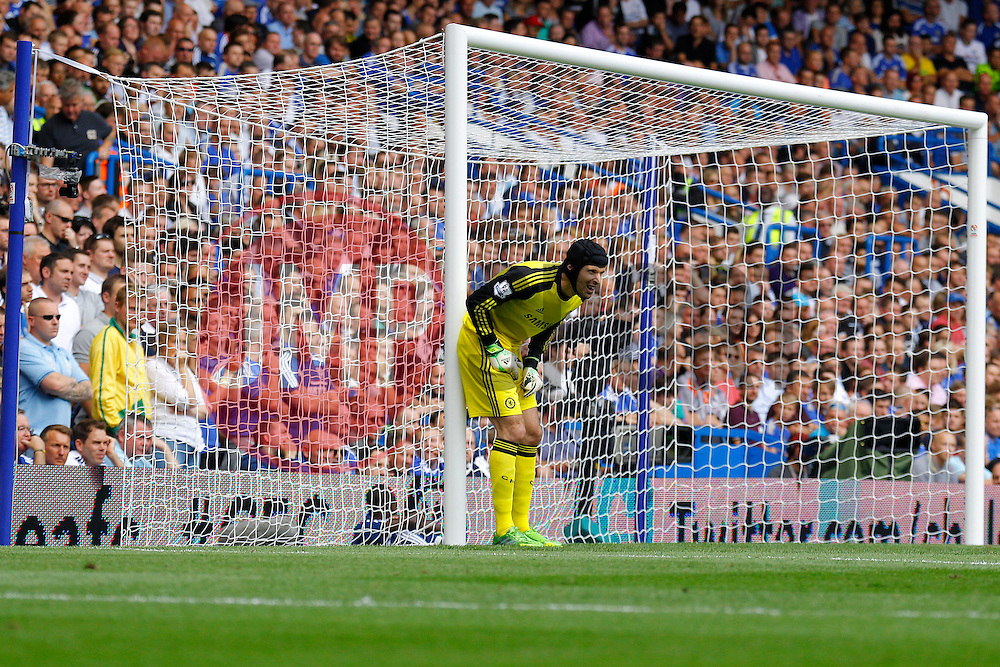 Chelsea's Petr Cech in action  - Photo mandatory by-line: Mitchell Gunn/JMP - Tel: Mobile: 07966 386802 18/08/2013 - SPORT - FOOTBALL - Stamford Bridge - London -  Chelsea v Hull City - Barclays Premier League