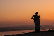 Mising woman<br /> Mising Tribe (Mishing or Miri Tribe)<br /> Majuli Island, Brahmaputra River<br /> Largest river island in India<br /> Assam,  ne India