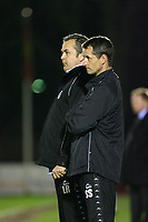 Chesterfield's Manager Lee Richardson and his Assistant Scott Sellars<br /> Aldershot vs Chesterfield at The Recreation Ground Aldershot<br /> Coca-Cola Football League Two  31/03/2009.<br /> Credit Colorsport / Shaun Boggust