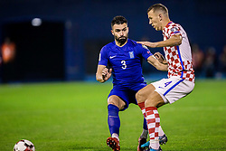Giorgos Tzavellas of Greece during the football match between National teams of Croatia and Greece in First leg of Playoff Round of European Qualifiers for the FIFA World Cup Russia 2018, on November 9, 2017 in Stadion Maksimir, Zagreb, Croatia. Photo by Ziga Zupan / Sportida