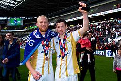 Milton Keynes Dons player celebrate promotion - Mandatory by-line: Ryan Crockett/JMP - 04/05/2019 - FOOTBALL - Stadium MK - Milton Keynes, England - Milton Keynes Dons v Mansfield Town - Sky Bet League One