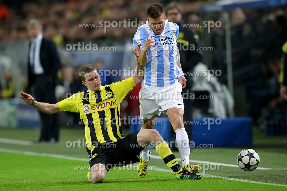 09.04.2013, Signal Iduna Park, Dortmund, GER, UEFA Champions League, Borussia Dortmund vs FC Malaga, Viertelfinale, Rueckspiel, im Bild Sven BENDER (Borussia Dortmund - BVB - 6) - Ignacio CAMACHO, Ignacio CAMACHO BARNOLA (FC Malaga - 6) // during the UEFA Champions League best of eight 2nd leg match between Borussia Dortmund and Malaga FC at the Signal Iduna Park, Dortmund, Germany on 2013/04/09. EXPA Pictures © 2013, PhotoCredit: EXPA/ Eibner/ Gerry Schmit..***** ATTENTION - OUT OF GER *****