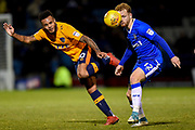 Oldham Athletic forward Aaron Amadi-Holloway (10) and Gillingham FC defender Connor Ogilvie (12) during the EFL Sky Bet League 1 match between Gillingham and Oldham Athletic at the MEMS Priestfield Stadium, Gillingham, England on 25 November 2017. Photo by Martin Cole.