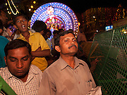 People awaiting the arrival of Karaga