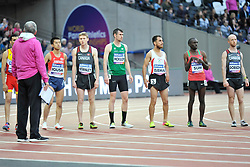 22/07/2017 : Michael McKillop (IRL), Takafumi Igusa (JPN), Liam Stanley (CAN), Madjid Djemai (ALG), Jonathan Sum (KEN), Shayne Dobson (CAN), T37, Men's 1500m, Final, at the 2017 World Para Athletics Championships, Olympic Stadium, London, United Kingdom