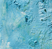 blue enamel paint on canvas: texture, consistence and shades