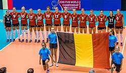24-08-2017 NED: World Qualifications Belgium - Slovenia, Rotterdam<br /> Team Belgie<br /> Photo by Ronald Hoogendoorn / Sportida