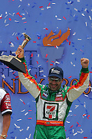 Tony Kanaan wins at the Kansas Speedway, Kansas Indy 300, July 3, 2005