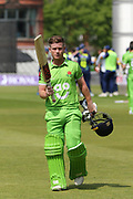 Alex Davies (Wicket Keeper) out for 147 during the Specsavers County Champ Div 1 match between Lancashire County Cricket Club and Durham County Cricket Club at the Emirates, Old Trafford, Manchester, United Kingdom on 20 May 2018. Picture by George Franks.