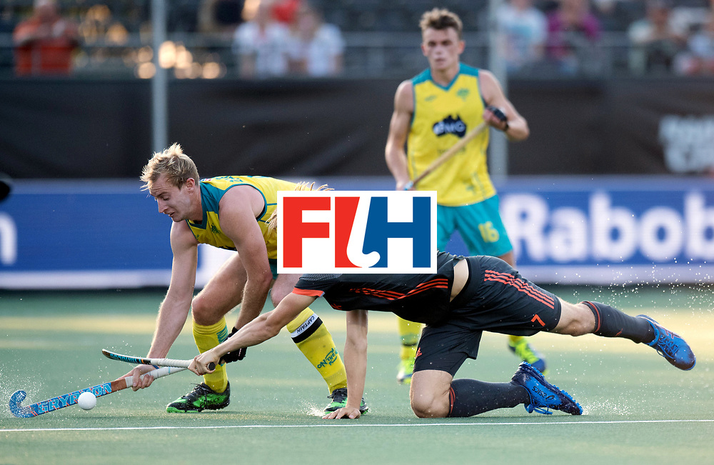BREDA - Rabobank Hockey Champions Trophy<br /> Netherlands - Australia<br /> Photo: ZALEWSKI Aran and Jorrit Croon.<br /> COPYRIGHT WORLDSPORTPICS FRANK UIJLENBROEK