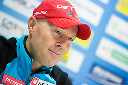Uros Velepec of Slovenia at press conference during training day prior to the IBU Biathlon World cup at Pokljuka, on December 16, 2014 in Rudno polje, Pokljuka, Slovenia. Photo by Vid Ponikvar / Sportida