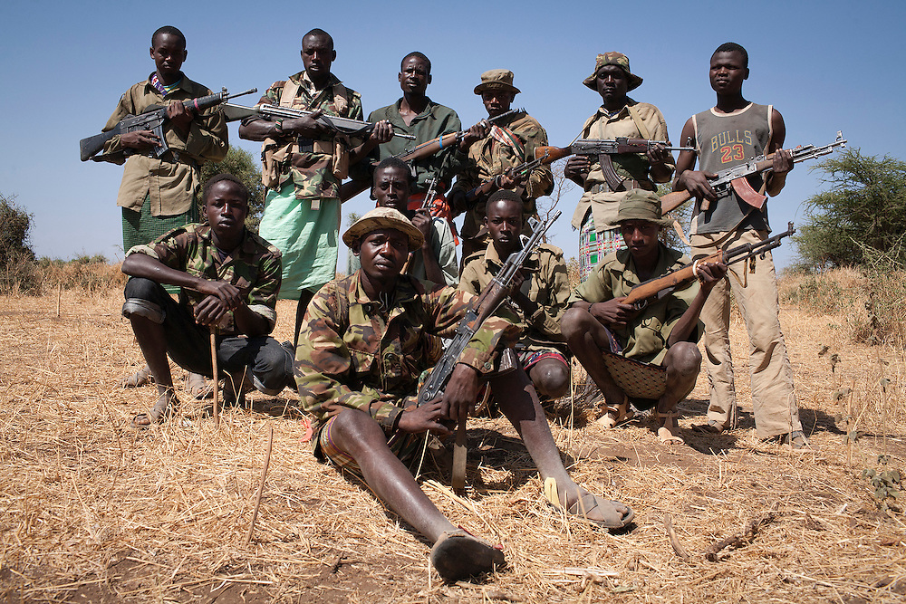 Armed Turkana young men.