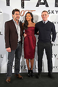 29.OCTOBER.2012. MADRID<br /> <br /> DANIEL CRAIG, NAOMIE HARRIS AND JAVIER BARDEM ATTEND THE SKYFALL PHOTOCALL AT HOTEL VILLAMAGNA IN MADRID.<br /> <br /> BYLINE: EDBIMAGEARCHIVE.CO.UK<br /> <br /> *THIS IMAGE IS STRICTLY FOR UK NEWSPAPERS AND MAGAZINES ONLY*<br /> *FOR WORLD WIDE SALES AND WEB USE PLEASE CONTACT EDBIMAGEARCHIVE - 0208 954 5968*