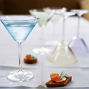 martinis on a table