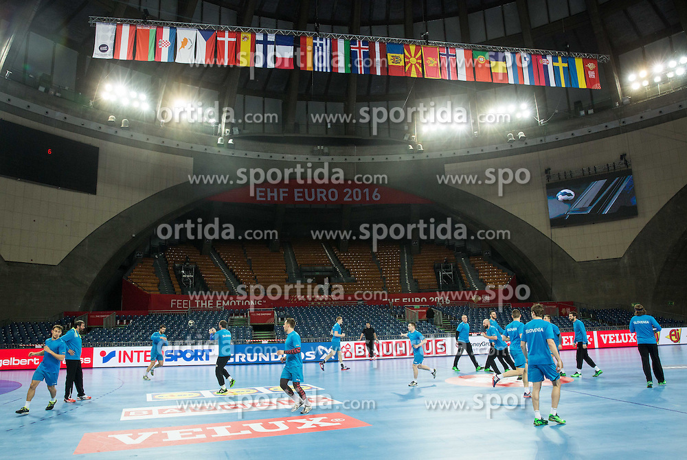 Practice session of Team Slovenia on Day 1 of Men's EHF EURO 2016, on January 15, 2016 in Centennial Hall, Wroclaw, Poland. Photo by Vid Ponikvar / Sportida