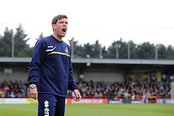 Bristol Rovers Manager, Darrell Clarke shouts instructions from the dug out - Photo mandatory by-line: Dougie Allward/JMP - Mobile: 07966 386802 05/04/2014 - SPORT - FOOTBALL - Kingston upon Thames - Kingsmeadow - AFC Wimbledon v Bristol Rovers - Sky Bet League Two