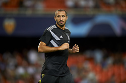 September 19, 2018 - Valencia, Spain - Giorgio Chiellini  during the Group H match of the UEFA Champions League between Valencia CF and Juventus at Mestalla Stadium on September 19, 2018 in Valencia, Spain. (Credit Image: © Jose Breton/NurPhoto/ZUMA Press)