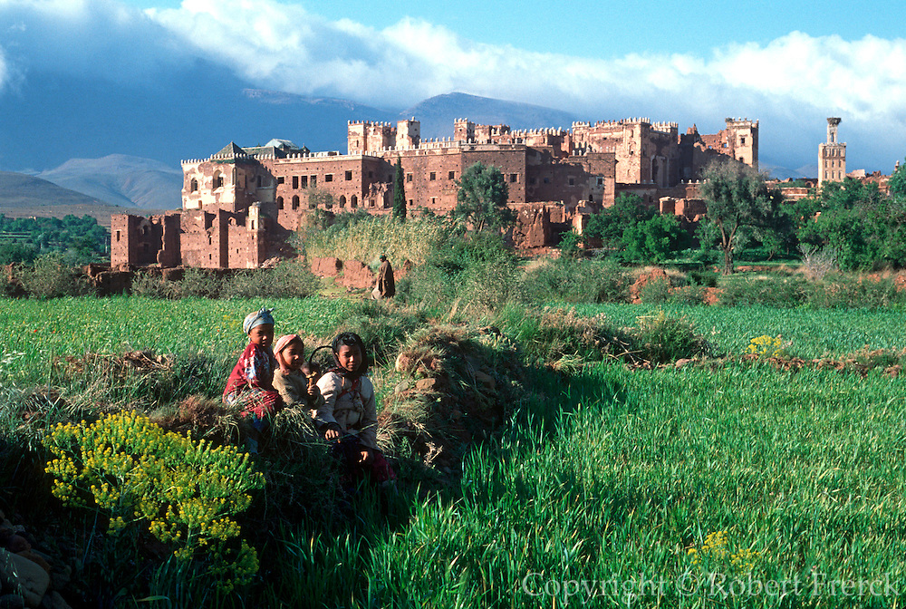 MOROCCO, HIGH ATLAS MOUNTAINS the Kasbah of Telouet, (fortified citadel) south of Marrakech