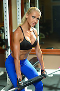 MOORESTOWN, NJ: Fitness Model in the gym July 9, 2013 in Moorestown, New Jersey. (Photo by William Thomas Cain/Cain Images) http://www.cainimages.com