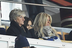 L-R Joanne Beckham, Victoria Beckham and Sandra Beckham  during the French League 1 between Paris Saint-Germain FC and Marseille Olympic OM, at Parc des Princes, Paris, France, February 24, 2013. Photo by Imago / i-Images...UK ONLY