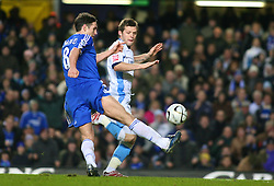 London, England - Tuesday, January 23, 2007: Chelsea's Frank Lampard takes the ball round Sam Stockley to scores the third goal against Wycombe Wanderers during the League Cup Semi-Final 2nd Leg match at Stamford Bridge. (Pic by Chris Ratcliffe/Propaganda)