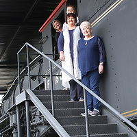 JOHN WARD/BUY AT PHOTOS.MONROECOUNTYJOURNAL.COM <br /> A few members of the 39th Annual Amory Railroad Festival committee standing at Engine 1529 in Frisco Park are, from left, Heather Jones, Harryette Gosa, Debra Strawbridge and Sue Brown.