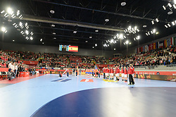 Teams of Spain and Czech Republic during handball match between National teams of Spain and Czech Republic on Day 2 in Preliminary Round of Men's EHF EURO 2018, on Januar 13, 2018 in Skolsko Sportska Dvorana, Varazdin, Croatia. Photo by Mario Horvat / Sportida
