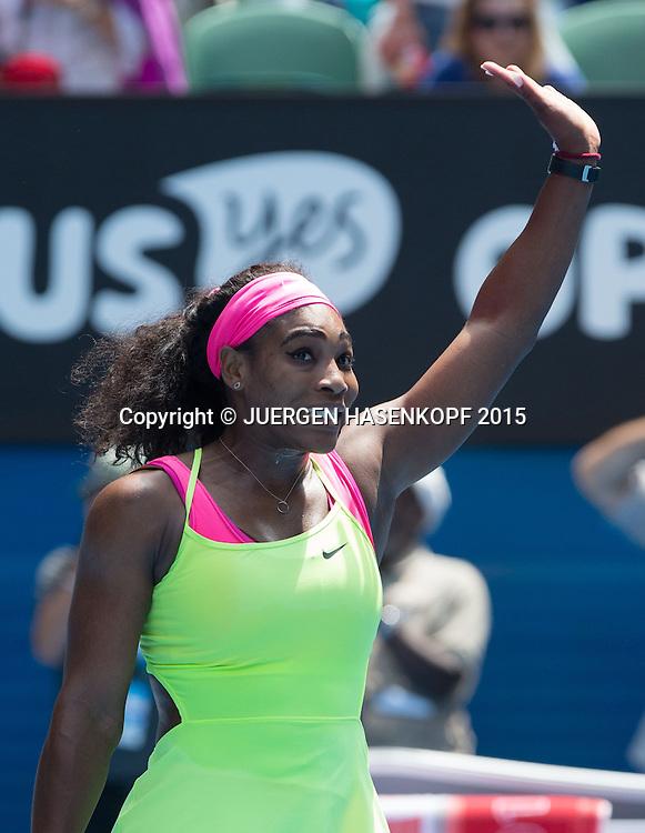 Serena Williams (USA)<br /> <br /> Tennis - Australian Open 2015 - Grand Slam ATP / WTA -  Melbourne Olympic Park - Melbourne - Victoria - Australia  - 28 January 2015.