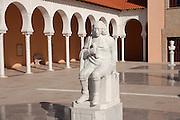 Israel, Caesarea, Ralli Museum of modern art Statue of Baruch Spinoza,
