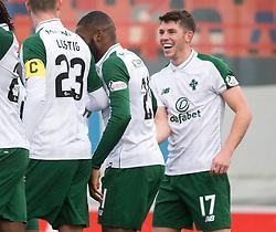 Celtic's Ryan Christie celebrates scoring his side's first goal of the game during the Ladbrokes Scottish Premiership match at Hope CBD Stadium, Hamilton.