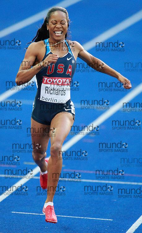 Berlin 2009 World Championships - August 18 -Day 4 - Evening *** Local Caption *** Sanya Richards - 400m Gold USA
