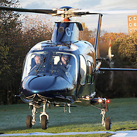 The Duke of Kent is escorted into Rotherham prior to boarding his helicopter this afternoon.<br />