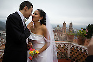 Destination wedding photos, Marco and Daffodil in beautiful Taxco Mexico.