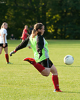 Girls Varsity Soccer Laconia versus Belmont at Robbie Mills Memorial Sports Complex.  (Karen Bobotas/for the Laconia Daily Sun)