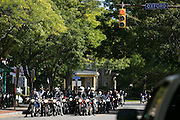 Riders arrive at the Barbetorium on Park Avenue at the conclusion of the Distinguished Gentleman's Ride in Rochester on Sunday, September 27, 2015. The charity ride raised money for the Us TOO Prostate Cancer support group.