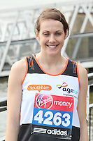 LONDON - April 17: Kelly Sotherton at the Virgin London Marathon - Celebrity Photocall (Photo by Brett D. Cove)