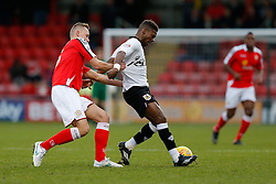 Kieran Agard of Bristol City is challenged by George Ray of Crewe Alexandra - Photo mandatory by-line: Rogan Thomson/JMP - 07966 386802 - 20/12/2014 - SPORT - FOOTBALL - Crewe, England - Alexandra Stadium - Crewe Alexandra v Bristol City - Sky Bet League 1.