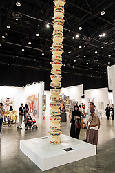 Art Dubai 2014 the leading art fair in the Middle East held at Madinat Jumeirah in Dubai United Arab Emiraes
