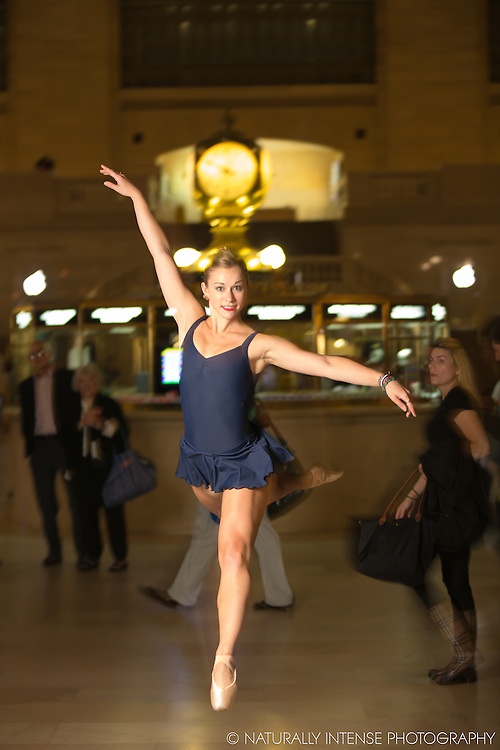 Grand Central Concourse Clock Ballerina En Pointe featuring Jaclyn Wheatley. Dance As Art The New York Photography Project