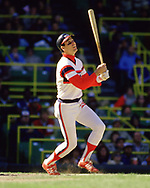 CHICAGO - 1986:  Joel Skinner of the Chicago White Sox bats during an MLB game at Comiskey Park in Chicago, Illinois during the 1986 season . (Photo by Ron Vesely)  Subject:   Joel Skinner