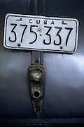22 Aug 1996, Havana, Cuba --- License Plate of Pontiac in Museum --- Image by © Jeremy Horner/CORBIS