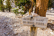 Outpost camp on the Mount Whitney Trail, John Muir Wilderness, California USA