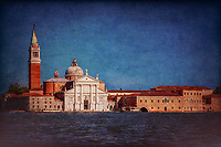"""View from the Grand Canal of the church of San Giorgio Maggiore in Venice""…<br />
