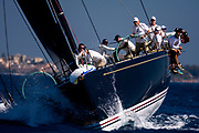 Bella Mente sailing in the  Corfu Challenge, day one.