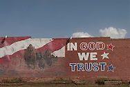 In God We Trust, Mural, Quitaque, Texas, Texas Panhandle,  Population 411