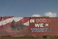 In God We Trust, Mural, Quitaque, Texas, Texas Panhandle,  Population 411